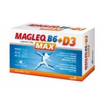 Magleq B6 MAX + D3 magneesiumitabletid vitamiin B6 ja vitamiin D-ga N45
