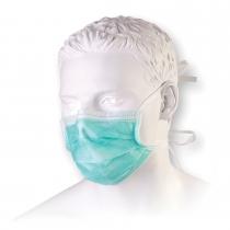Meditsiiniline mask kinnitusnööridega, roheline N50